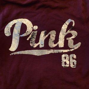 PINK Victoria's Secret Tops - Pink Sequins Hoodie